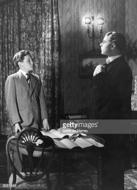 Emlyn Williams the playwright and actor in a scene from 'The Winslow Boy' by Terence Rattigan being staged at the Lyric Theatre
