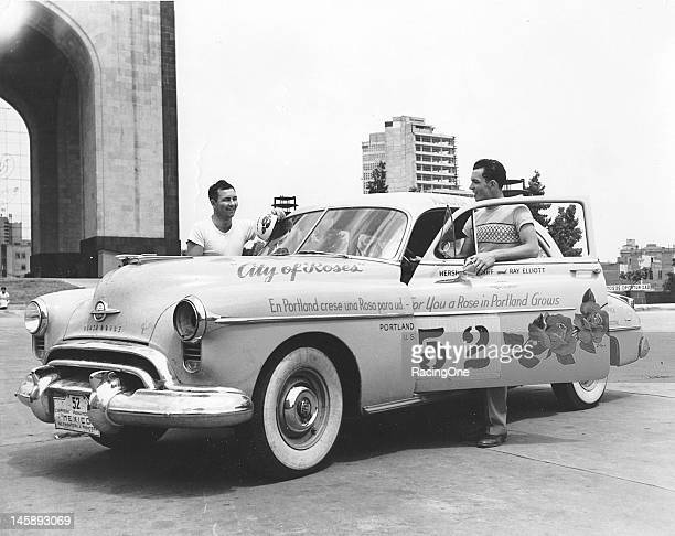Herschel McGriff and Ray Elliott drove this Oldsmobile 88 owned by Roy Sundstrom to victory in the first Carrera Panamericana an event also widely...