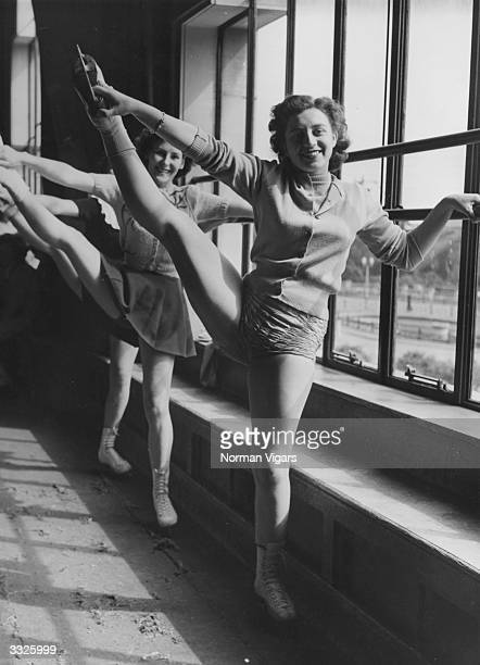 Members of the Bournemouth Ice Gala show limber up at the barre