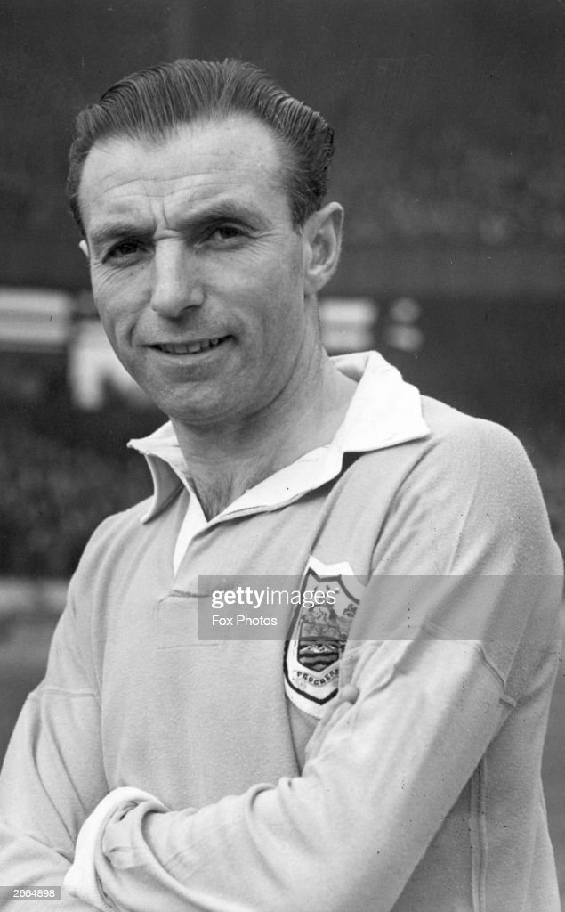 British footballer Stanley Matthews (1915 - 2000) of Blackpool FC. He gained 54 international football caps for England.