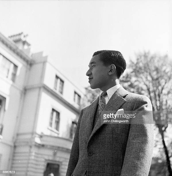 Emperor Akihito of Japan as Crown Prince Akihito of Japan during a visit to London to attend the coronation of Queen Elizabeth II Original...