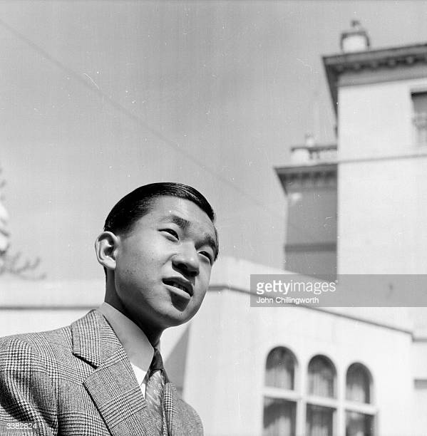 Emperor Akihito of Japan, as Crown Prince Akihito of Japan, during a visit to London to attend the coronation of Queen Elizabeth II. Original...