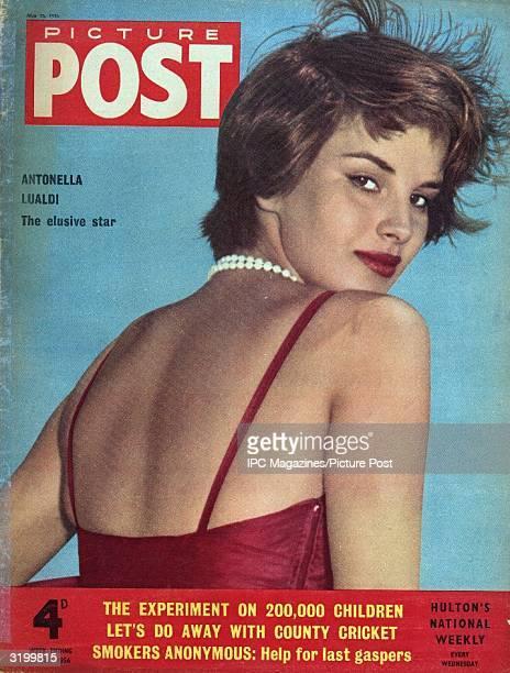 Italian actress Antonella Lualdi graces the cover of Picture Post magazine Original Publication Picture Post Cover Lualdi The Star Who Wouldn't Talk...