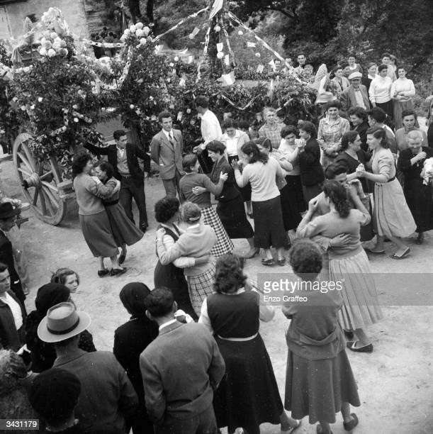 Italians celebrate a May Festival in the village of Bucchianico near Chieti in Abruzzo