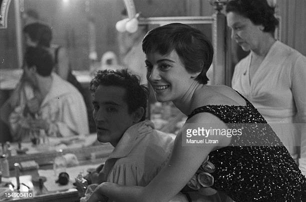 May 1957 the play 'Orestes' by Vittorio Alfieri directed and played by Vittorio Gassman the Theatre of Nations In her dressing room Vittorio Gassman...