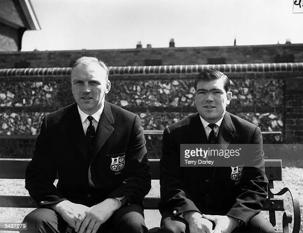 Two members of the British Lions rugby team who are to tour Australia and New Zealand l to r R H Williams the Llanelli and Wales lockforward and...
