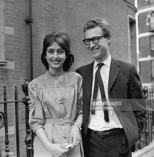 British writer and broadcaster Bamber Gascoigne with his new wife photographer Christina Ditchbury
