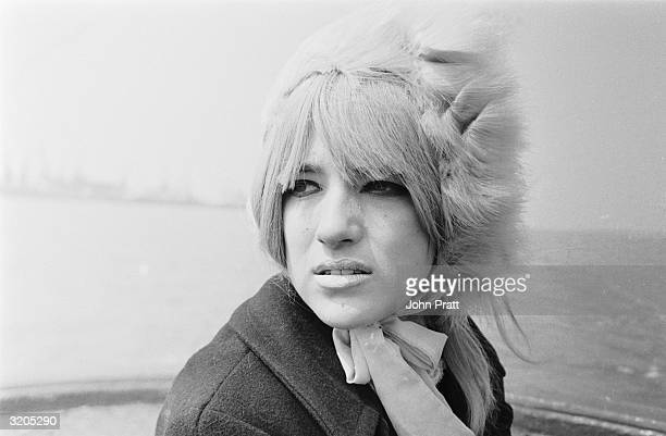 English pop singer Twinkle at the launch party of Swinging Radio England a pirate radio station based on a ship anchored off Harwich