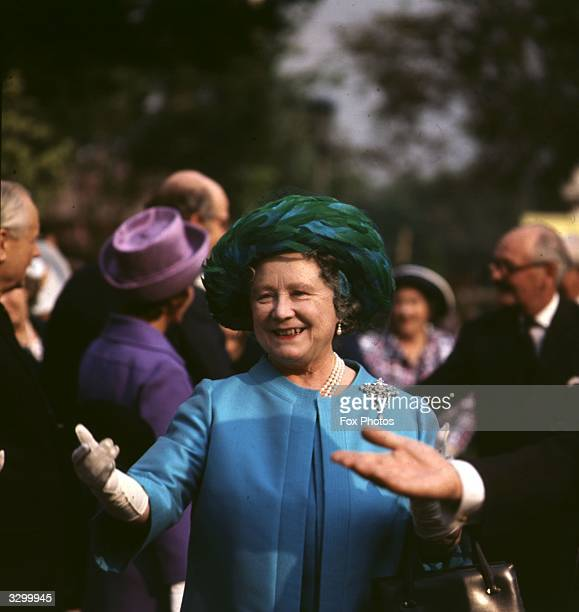 Queen Elizabeth The Queen Mother during a visit to the Chelsea Flower Show London