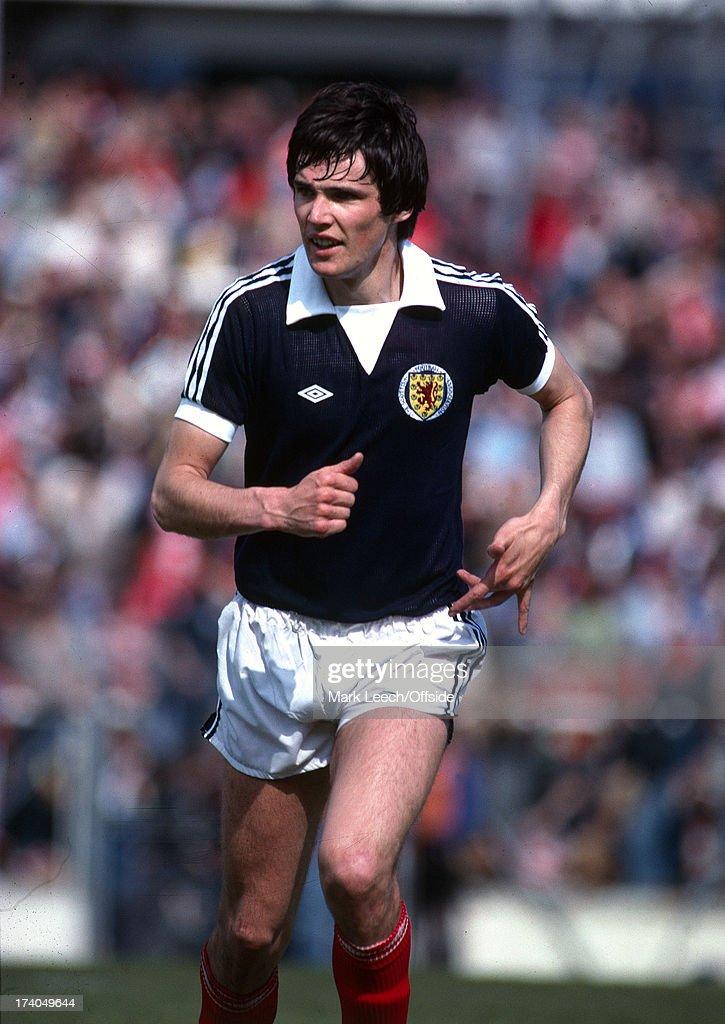 19 May 1979 Home Internation football - Wales v Scotland - Scottish defender Alan Hansen.