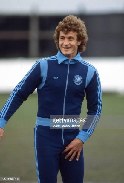 West Germany football squad training Rainer Bonhof in his adidas tracksuit