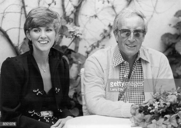 British actor and comedian Peter Sellers and his wife British actor Lynne Frederick attend the Cannes Film Festival where director Hal Ashby's film...
