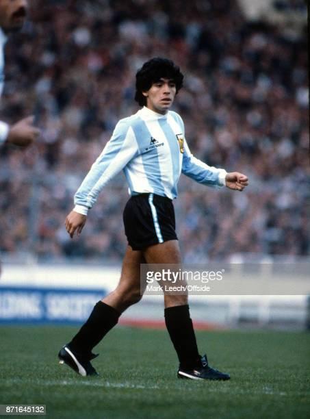 International Football Friendly Match England v Argentina Diego Maradona of Argentina