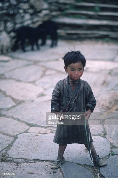 A child on the streets of Paro in Bhutan