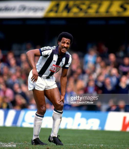08 May 1982 Football League division 1 West Bromwich Albion v Aston Villa Albion defender Brendan Batson holds his injured knee