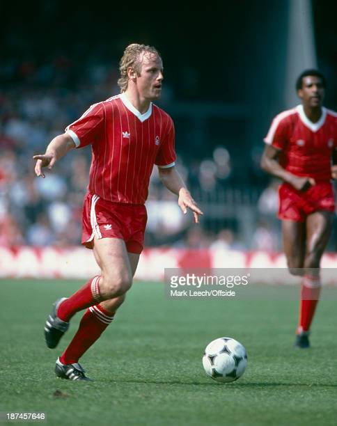 May 1982 Football League Division One Ipswich Town v Nottingham Forest , Jurgen Roeber of Forest.