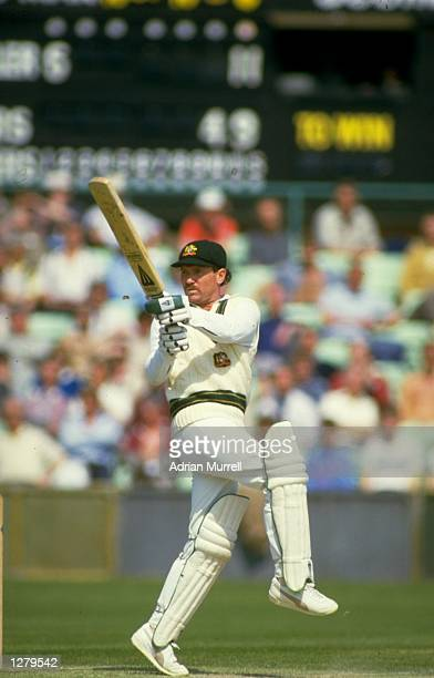 Allan Border of Australia in action during a match at Taunton in Somerset England Mandatory Credit Adrian Murrell/Allsport
