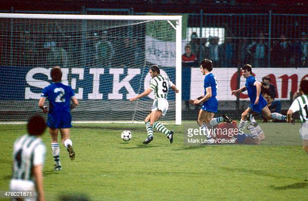 15 May 1985 European Cup Winners Cup Everton v Rapid Vienna Hans Krankl scores for Rapid Vienna