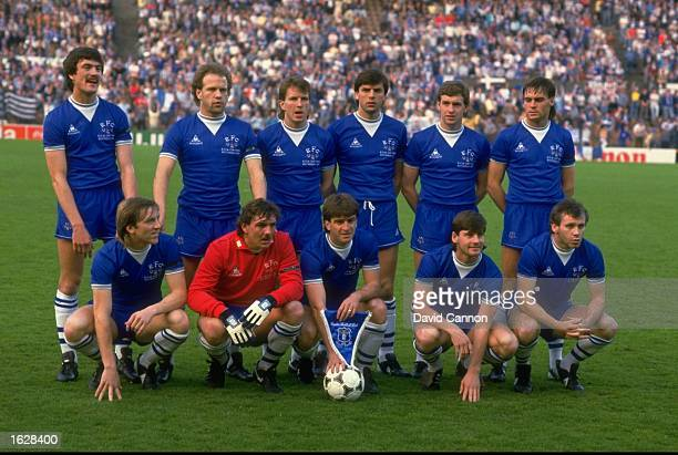 The Everton team pose for a photograph before the European Cup Winners Cup Final against Rapid Vienna at the Feyenoord Stadium in Rotterdam...