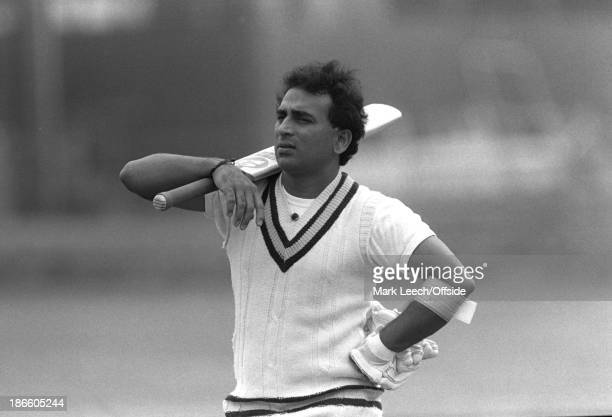 02 May 1986 India cricket team at Lord's Cricket Ground Sunil Gavaskar stnads with his bat over his shoulder