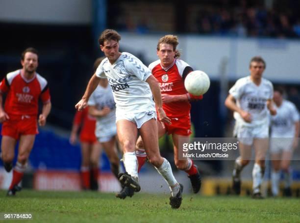 May 1986 London Football League Division One - Tottenham Hotspur v Southampton - Glenn Hoddle of Tottenham and Glenn Cockerill of Southampton