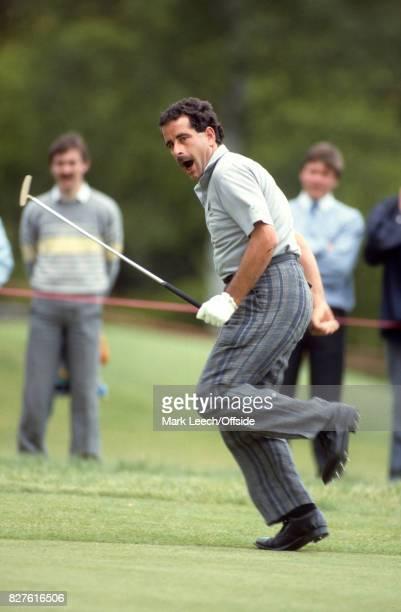 PGAGolf Tournament Sam Torrance celebrates after holing a putt Photo Mark Leech / Getty Images