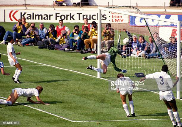 16 May 1987 FA Cup Final Coventry City v Tottenham Hotspur Gary Mabbutt of Tottenham scores an own goal to give Coventry the lead in Extra Time