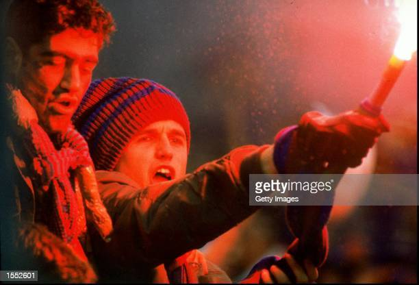 Barcelona fans during the European Cup Winners Cup Final against Sampdoria Mandatory Credit Allsport UK /Allsport