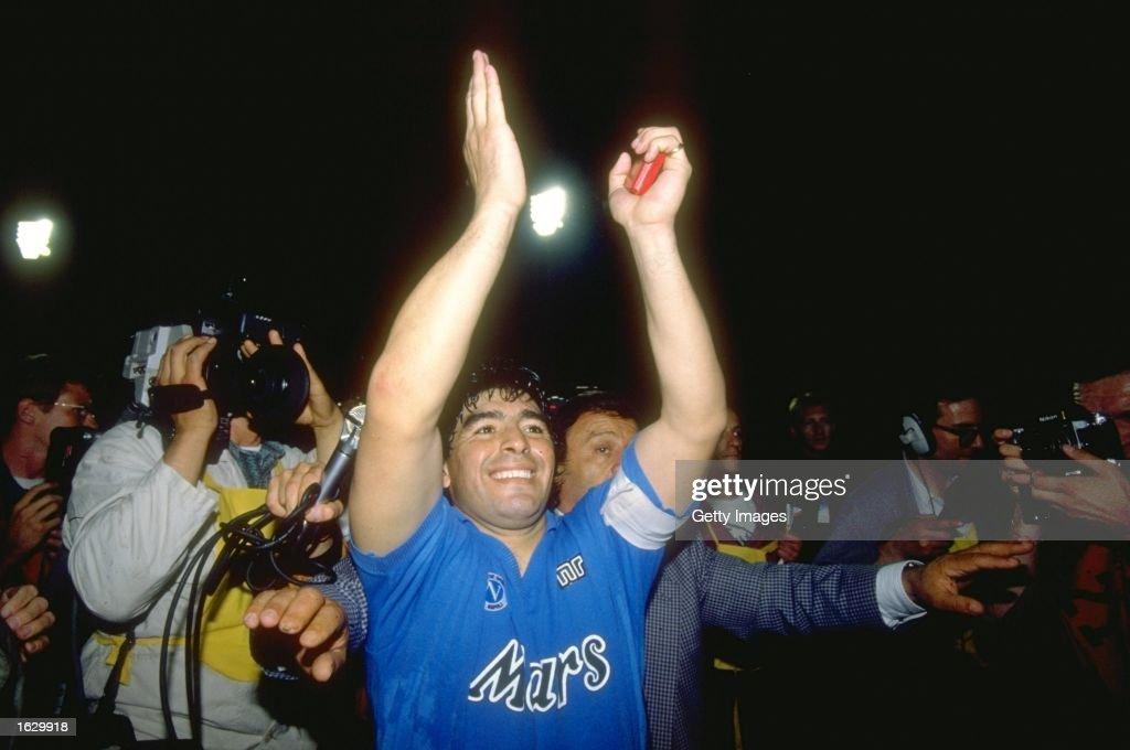 Diego Maradona of Napoli SSC : News Photo