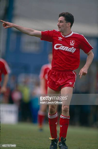 13 May 1989 English Football League Division One Wimbledon v Liverpool John Aldridge of Liverpool gives orders to a team mate