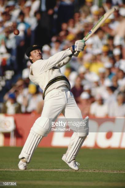 Steve Waugh of Australia in action during the One Day International against England played at Trent Bridge in Nottingham England The game ended in a...