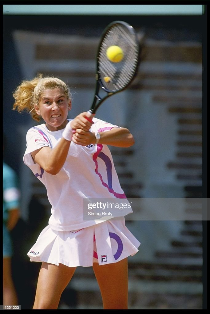 Monica Seles of Yugoslavia : News Photo