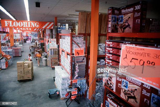Interior of Home Depot hardware store