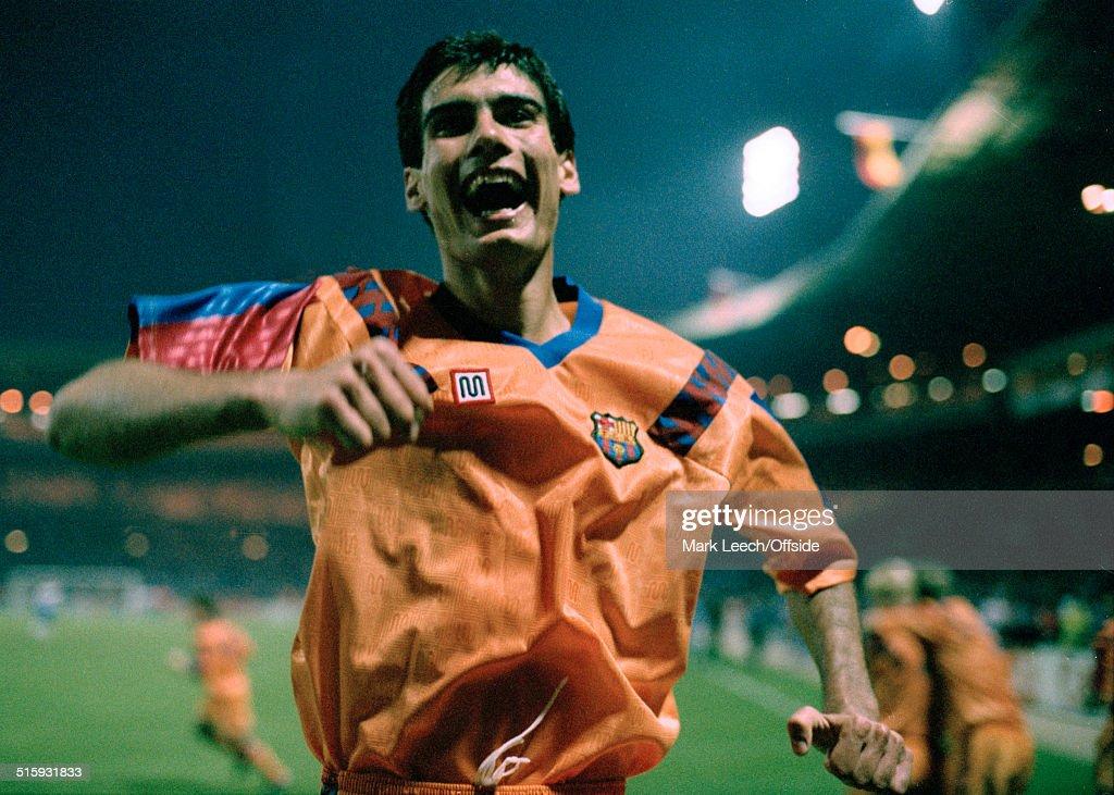 Pep Guardiola Joy 1992 : News Photo
