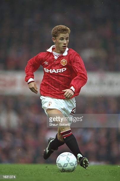 Nicky Butt of Manchester United Youth in action during a match Mandatory Credit Shaun Botterill/Allsport