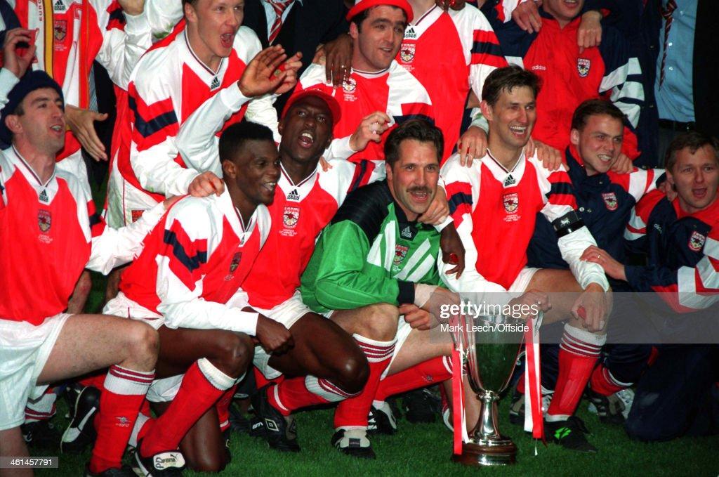 Arsenal FC European Cup Winners Cup Final 1994 : News Photo
