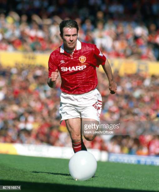 Manchester United v Coventry City Brain McClair in action with a balloon that looks like the ball Photo Mark Leech / Getty Images