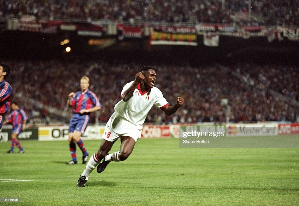 Marcel Desailly of AC Milan : News Photo
