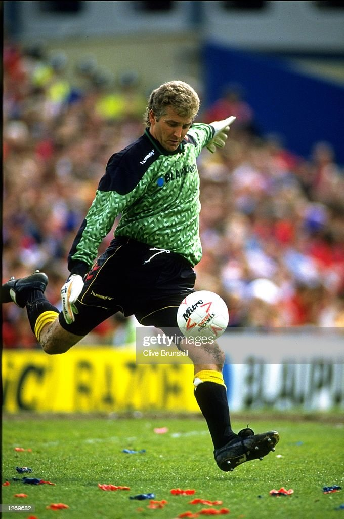 Watford goalkeeper Perry Digweed in action during a League Division One match against Crystal Palace at Selhurst Park in London. Watford won the match 2-0. \ Mandatory Credit: Clive Brunskill/Allsport