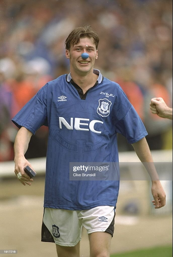Duncan Ferguson of Everton : News Photo