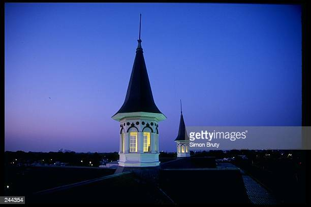 General view of the spires at Churchill Downs during the Kentucky Derby in Louisville, Kentucky. Mandatory Credit: Simon Bruty /Allsport