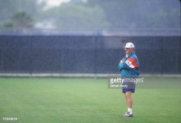 Head coach Don Shula of the Miami Dolphins during the Dolphins training camp in Miami Florida Mandatory Credit Simon Bruty /Allsport