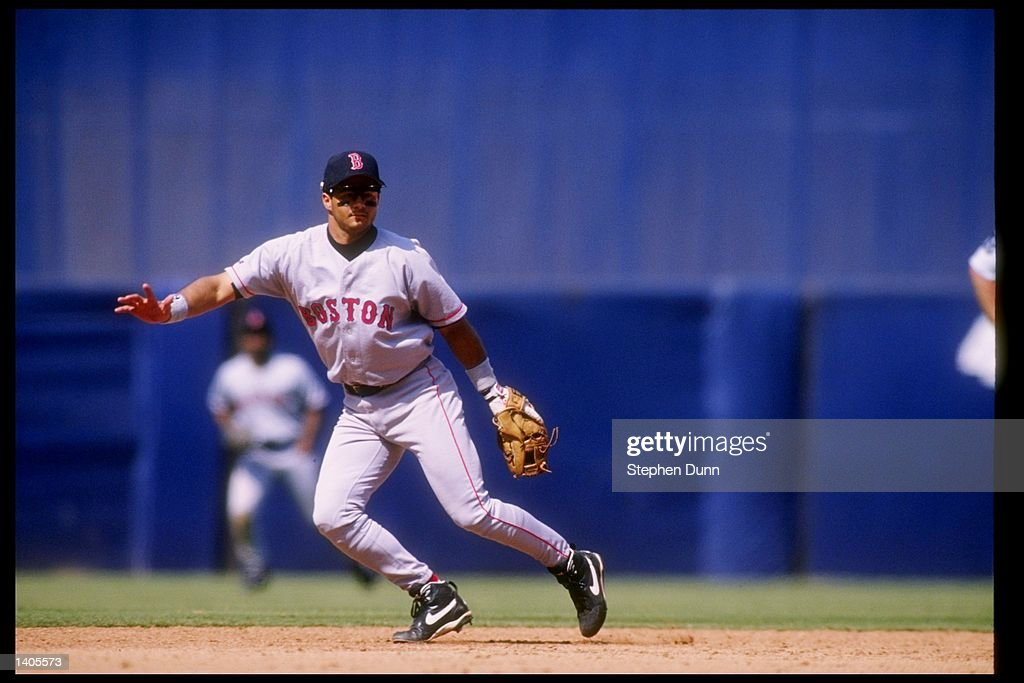 Shortstop John Valentin Of The Boston Red Sox In Action During A Game  Against The California