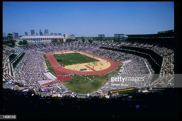 General view of Olympic Stadium during the IAAF Atlanta Grand Prix in Atlanta, Georgia.