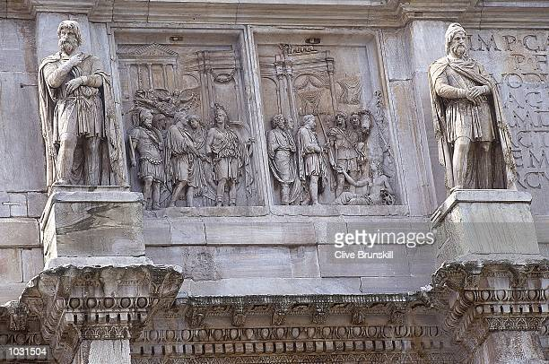 General view of the Arch of Constantine in Rome during the Italian Open in Italy Mandatory Credit Clive Brunskill /Allsport