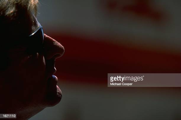 A portrait of Wayne Rainey of the USA the team boss of Rainey Yamaha watches the action during the Italian Motorcycle Grand Prix at Mugello in Italy...