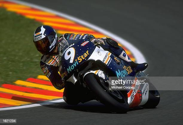 Alberto Puig of Spain in action in his Movistar Honda Pons during the Italian Motorcycle Grand Prix at Mugello Italy Mandatory Credit Mike Cooper...