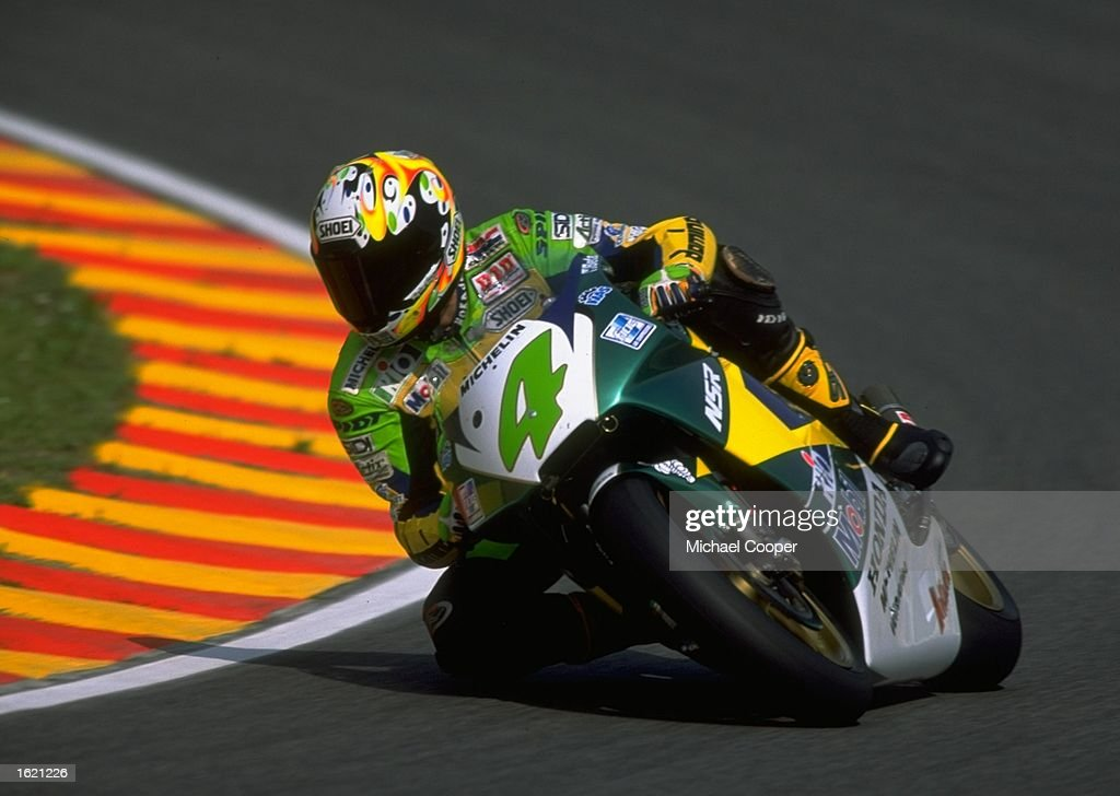 Alex Barros of Brazil in action in his Honda Gresini during the Italian Motorcycle Grand Prix at Mugello, Italy. \ Mandatory Credit: Mike Cooper /Allsport