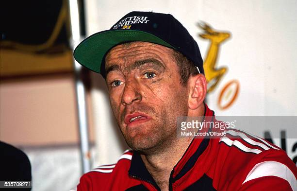 28 May 1997 British Lions Tour of South Africa Border v Lions A muddied John Bentley of the British Lions during the postmatch conference