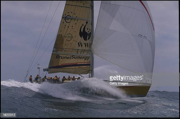 BrunelSunergy at speed off Cherbourg in preparation for the Whitbread Round The World Race 19978 Mandatory Credit Allsport UK /Allsport